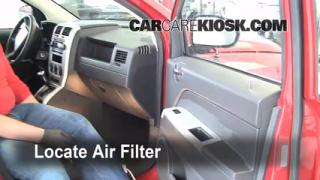 2007-2012 Dodge Caliber Cabin Air Filter Check