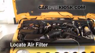 2007-2016 Jeep Wrangler Engine Air Filter Check