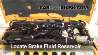 Add Brake Fluid: 2007-2014 Jeep Wrangler