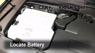 Battery Replacement: 2007-2012 Lexus ES350