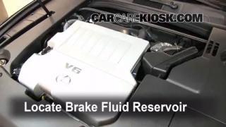 Add Brake Fluid: 2007-2012 Lexus ES350