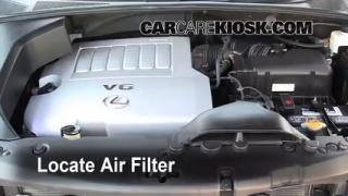 2004-2009 Lexus RX350 Engine Air Filter Check