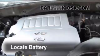 2008 Lexus RX350 3.5L V6 Battery Replace