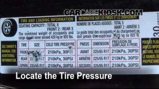 Properly Check Tire Pressure: Lexus RX350 (2004-2009)