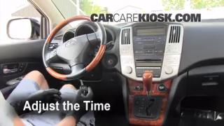 How to Set the Clock on a Lexus RX350 (2004-2009)