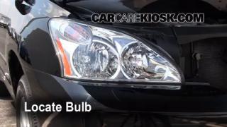 2008 Lexus RX350 3.5L V6 Lights Turn Signal - Front (replace bulb)