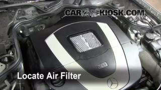 2003-2009 Mercedes-Benz E350 Engine Air Filter Check