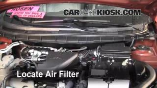2008-2013 Nissan Rogue Engine Air Filter Check