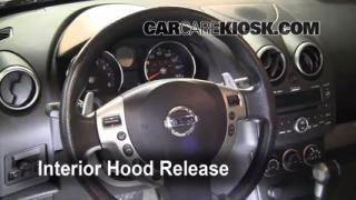 Open Hood How To 2008-2013 Nissan Rogue