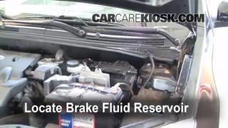 2007-2012 Nissan Sentra Brake Fluid Level Check