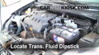Transmission Fluid Level Check Nissan Sentra 2007 2012