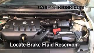 2007-2012 Nissan Versa Brake Fluid Level Check