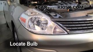 2008 Nissan Versa S 1.8L 4 Cyl. Sedan Lights Turn Signal - Front (replace bulb)