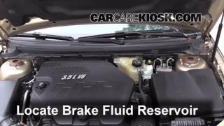 2008 Saturn Aura XE 3.5L V6 Brake Fluid Add Fluid