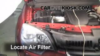 2008-2010 Saturn Vue Engine Air Filter Check