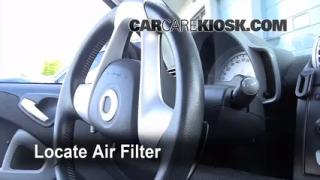 Cabin Filter Replacement: Smart Fortwo 2008-2015