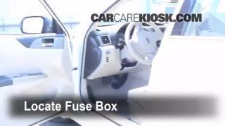 Interior Fuse Box Location: 2008-2014 Subaru Impreza