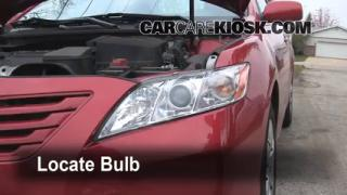 2008 Toyota Camry LE 2.4L 4 Cyl. Lights Headlight (replace bulb)