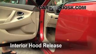 Open Hood How To 2007-2011 Toyota Camry