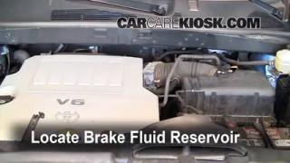 Add Brake Fluid: 2008-2013 Toyota Highlander