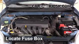 Interior Fuse Box Location 2003 2008 Toyota Matrix 2006