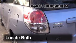 2008 Toyota Matrix XR 1.8L 4 Cyl. Lights Brake Light (replace bulb)