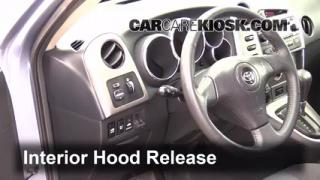 Open Hood How To 2003-2008 Toyota Matrix