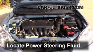 2008 Toyota Matrix XR 1.8L 4 Cyl. Power Steering Fluid Fix Leaks