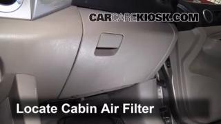 2008 Toyota Tacoma 2.7L 4 Cyl. Extended Cab Pickup (4 Door) Filtro de aire (interior) Control