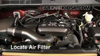 2007-2013 Toyota Tundra Engine Air Filter Check