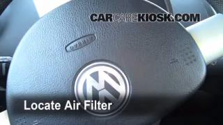 2006-2010 Volkswagen Beetle Cabin Air Filter Check