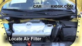 2006-2010 Volkswagen Beetle Engine Air Filter Check