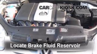 2008 Volkswagen Rabbit S 2.5L 5 Cyl. (2 Door) Brake Fluid Check Fluid Level