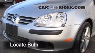 2008 Volkswagen Rabbit S 2.5L 5 Cyl. (2 Door) Lights Headlight (replace bulb)