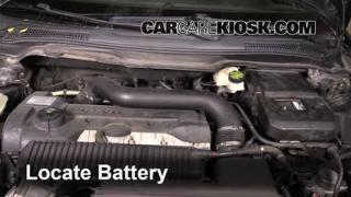 2008 Volvo C70 T5 2.5L 5 Cyl. Turbo Battery Replace