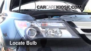 2009 Acura MDX 3.7L V6 Lights Turn Signal - Front (replace bulb)