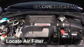 2009 Acura RDX 2.3L 4 Cyl. Turbo Filtro de aire (motor) Cambio