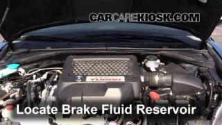 2009 Acura RDX 2.3L 4 Cyl. Turbo Líquido de frenos Agregar fluido