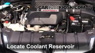 2009 Acura RDX 2.3L 4 Cyl. Turbo Refrigerante (anticongelante) Agregar refrigerante