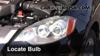 2009 Acura RDX 2.3L 4 Cyl. Turbo Luces Luz de estacionamiento (reemplazar foco)