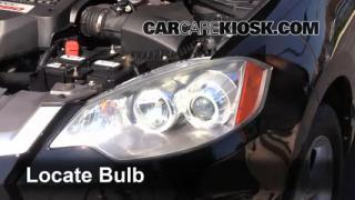 2009 Acura RDX 2.3L 4 Cyl. Turbo Luces Luz de giro delantera (reemplazar foco)
