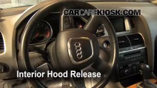 Open Hood How To 2007-2014 Audi Q7