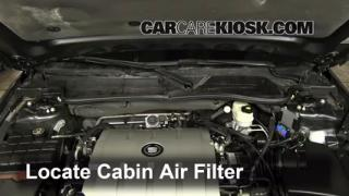 Cabin Filter Replacement: Cadillac DTS 2006-2011
