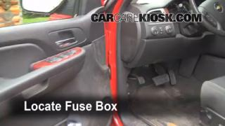 Interior Fuse Box Location: 2007-2013 Chevrolet Avalanche