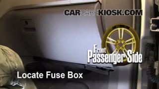 Interior Fuse Box Location: 2009-2012 Chevrolet Traverse