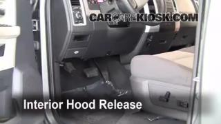 Open Hood How To 2009-2010 Dodge Ram 1500