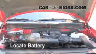 2009 Ford F-150 XLT 5.4L V8 FlexFuel Crew Cab Pickup (4 Door) Battery Clean Battery & Terminals