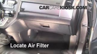 2007-2011 Honda CR-V Cabin Air Filter Check