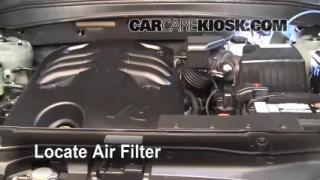 2007-2012 Hyundai Santa Fe Engine Air Filter Check