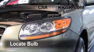 2009 Hyundai Santa Fe Limited 3.3L V6 Lights Parking Light (replace bulb)